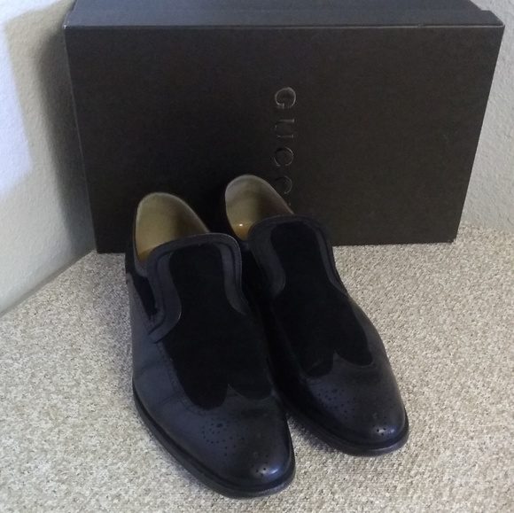 Gucci Other - Gucci Black Leather Wingtip Dress Shoes